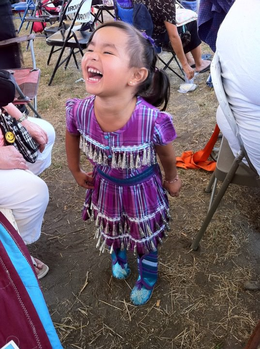 Cute girl in jingle dress